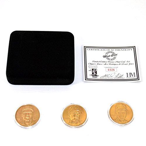 (Highland Mint Derek Jeter/Chipper Jones/Alex Rodriquez Bronze 3 Coin Set # out of 2,500)