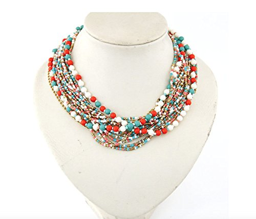 Oliasports Torsade Layers Colorful Necklace