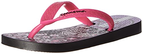 Image of Ipanema Girls' Fun III Flip Flop, Black/Pink, 10/11 M US Little Kid