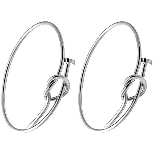 (SENFAI Twist Knot Nail Bangle Heart Knot Bracelet Stack Bangle Cuff (2 pcs Set Silver))