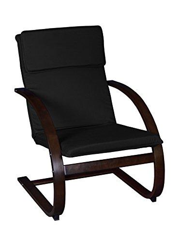 Cheap Niche Mia Bentwood Reclining Chair, Mocha Walnut/Black, 39″