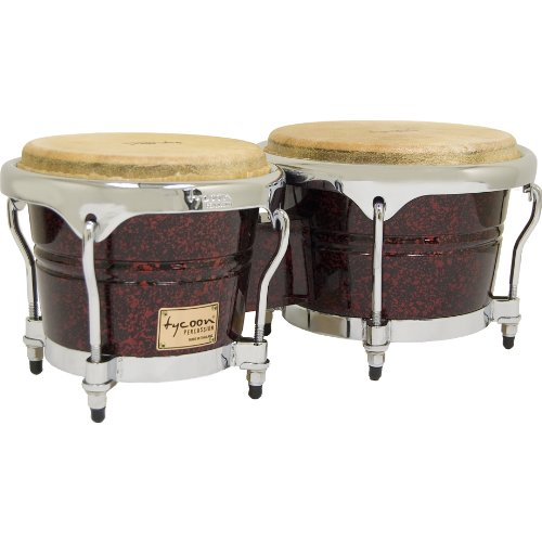 Tycoon Percussion 7 Inch & 8 1/2 Inch Concerto Series Bongos - Red Pearl Finish