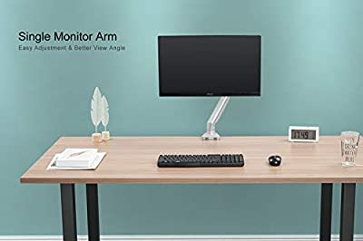 """EleTab Single Monitor Desk Mount - Height Adjustable Full Motion Swivel VESA Arm Fits for 17""""- 32"""" Computer Screen, up to 17.6 lbs"""