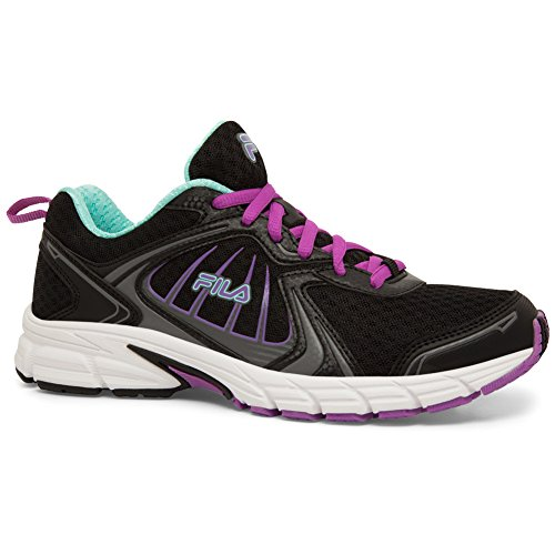 Fila Donna Deltaspeed 2 Mesh, Artificiali, Sneakers Running In Gomma Nere, Dewberry, Argento Scuro
