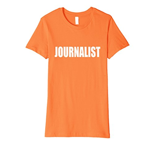 Womens Journalist Halloween Costume Party Cute & Funny T shirt XL Orange - Female Journalist Costume