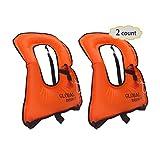 DEHUI GLOBAL Portable Inflatable Snorkeling Vest Life...