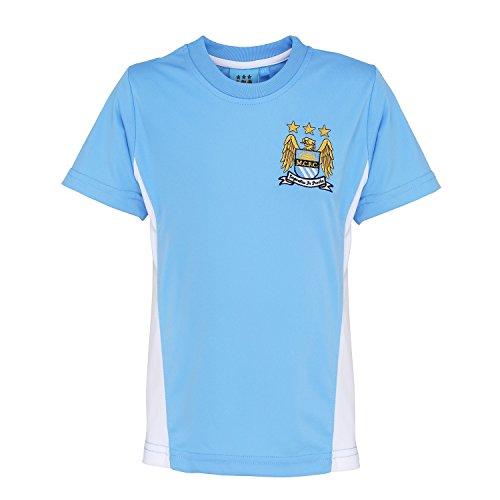 Official Football Merchandise Kids Manchester City FC Short Sleeve T-Shirt – DiZiSports Store