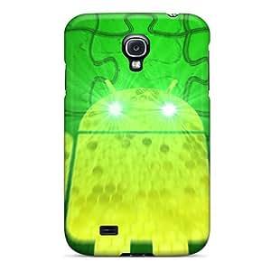 Unique Design Galaxy S4 Durable Tpu Case Cover Green Droid