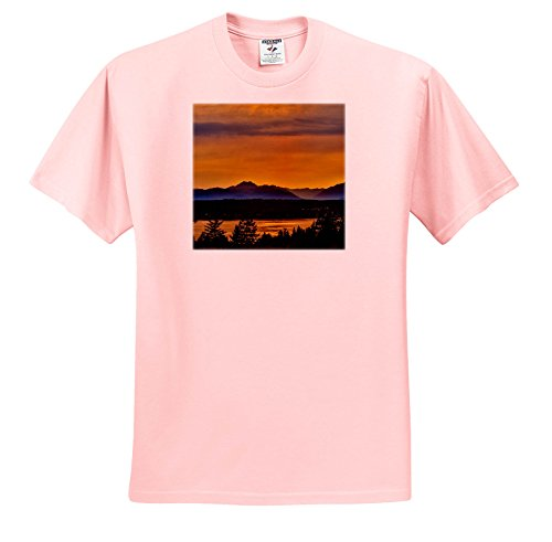 Inlet Tee (Danita Delimont - Sunsets - Golden Sunset Glow On Dyes Inlet, Bremerton, Washington - T-Shirts - Light Pink Infant Lap-Shoulder Tee (18M) (TS_260485_71))