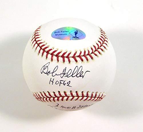 Signed Bob Feller Ball - OMLB Stat DA030734 - Autographed Baseballs