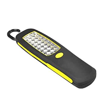 Aubig A8LE10789 - Linterna LED rectangular inalámbrica con gancho, color amarillo