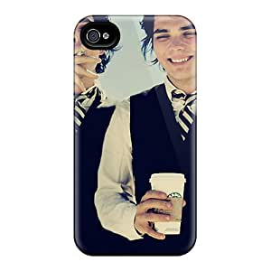 MansourMurray Iphone 4/4s Protective Hard Phone Cover Support Personal Customs High-definition Gerard Way Pattern [EjY1310rjmo]