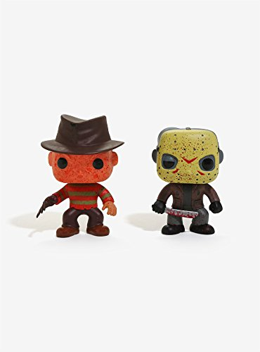 Funko Pop! Movies Freddy Krueger & Jason Voorhees Bloody Vinyl Figure Set - BoxLunch Exclusive