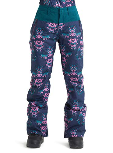 (Burton Women's Gore-Tex Duffy Snow Pant, Dress Blue Stylus/Deep Teal, Small)