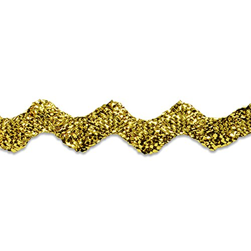 Expo International 1/2-Inch 36-Yard Ric Rac Trim Embellishment, Medium, Metallic Gold (Rack Rick Metallic)