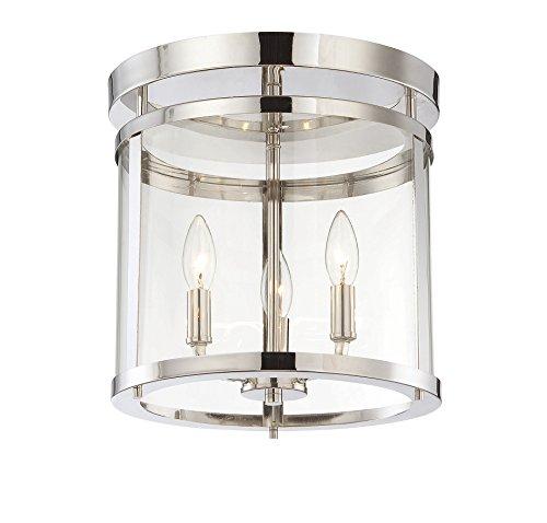 Savoy House Six Light (Savoy House 6-1043-3-109, Penrose 3-Light Semi-Flush, Polished Nickel)