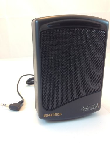 KOSS PORTABLE SPEAKER WITH 3.5mm MINI STEREO PLUG