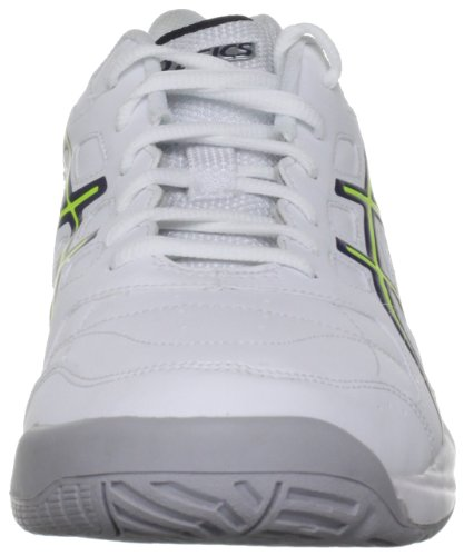 Asics Gel Estoril Court M, Scarpe da Tennis Uomo, White/Navy/Flash Yellow, 47 EU