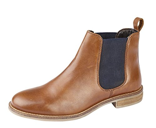 Cipriata Womens Ladies Real Leather Comfort Chelsea Ankle Boots Black Tan Size 3 4 5 6 7 8 9 Tan lHtJ0B80ul