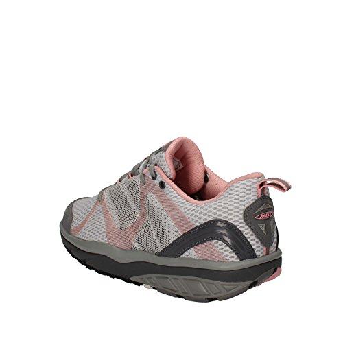 MBT Sneakers Mujer 37 EU Gris Rosa Textil