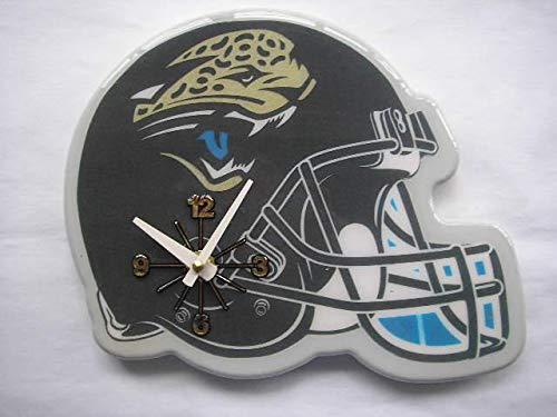 Resin Jacksonville Jaguars Football - MISC NFL Jacksonville Jaguars Wall Clock Helmet Shaped Football Clock Sports Design Unique Decorative Home Decor Team Logo Printed Athletic Games Fans Gift Birthday Housewarming, Resin Plastic