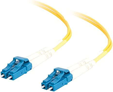 C2G//Cables to Go 37112 LC//SC Simplex 9//125 Single-Mode Fiber Patch Cable 10 Meters, Yellow
