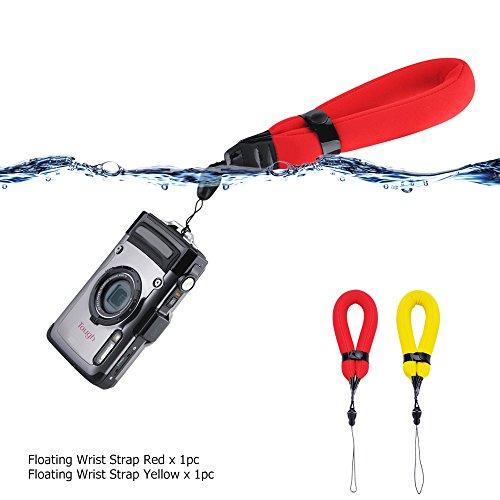 2 Pack Waterproof Camera Float Strap for Nikon W300 W100 AW120 AW110 AW100/Canon D30 D20 D10/Olympus TG5 TG4 TG3 TG2 TG870/Fujifilm XP130 XP120 XP90 XP80/GoPro Hero6 Hero5 Hero4 Hero3+/Panasonic TS30