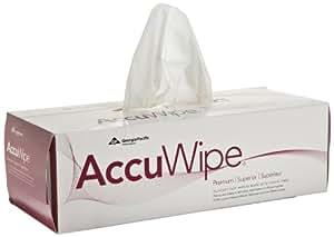 "AccuWipe 29834 Virgin Fiber Premium 1-Ply Delicate-Task Wipers, 8-25/64"" Length x 11-1/4"" Width, White (Case of 6)"