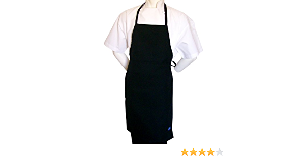 Chefskin Black Apron for Kids Small 15x21 Real Fabric Ultralight Comfortable