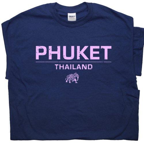 [M - Phuket Thailand T Shirts Yoga Cool Elephant India Hindu Buddha The Hangover Vintage Mens Womens Tee Shirtmandude] (Buddha Fitted T-shirt)