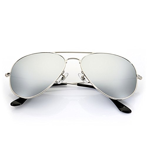 Aviator Sunglasses for Men Women,Flash Mirror Lens UV400 Sunglasses Eyewear with Sun Glasses Case (60mm Lens Width)