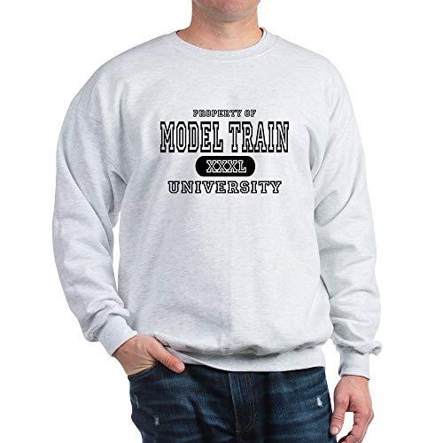 CafePress Model Train University Classic Crew Neck Sweatshirt Ash Grey
