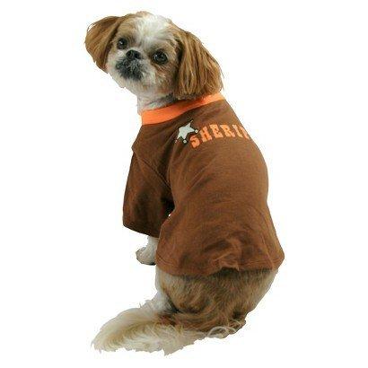 Sheriff Halloween Tee Pet Dog Costume Medium by