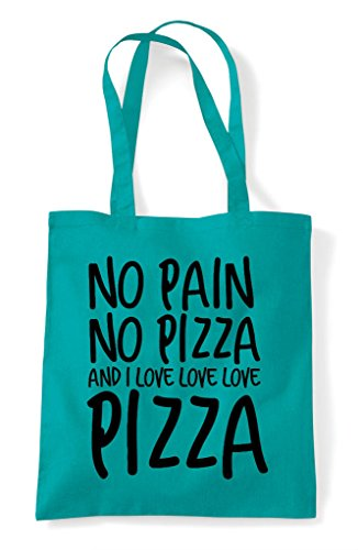 Emerald Food Tote Pizza Statement Bag Love Shopper I No Pain And qfCCvO