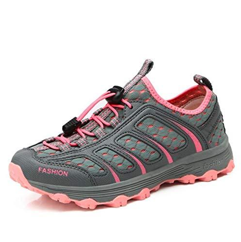 Exing Womens Schuhe Outdoor Wanderschuhe/Sommer Herbst Breathable Off-Road-Wanderschuhe/Damen Light Sohlen Anti-Rutsch-Reise-Schuhe (Farbe : B, Größe : 38) D