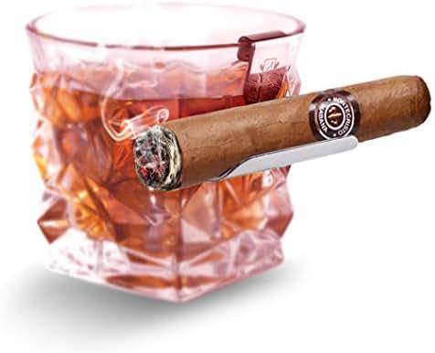 Boravis Cigar Holder, Whisky Glass Rest, Gift for Cigar Whiskey Lovers, Men, Husband, Father