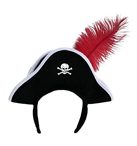 Jacobson Hat Company Pirate Headband with Feather -