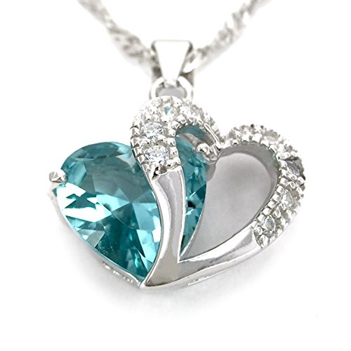A Heart Full of Love [Color: Turquoise] Sterling Silver Pendant Necklace