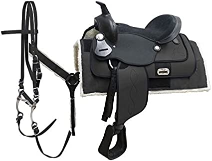 """Cordura COMPLETE Saddle Package Full QH Bars 6 Colors Available 16/"""" NEW"""