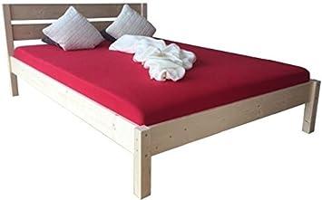 Liegewerk Massivholzbett Bett Mit Hohem Kopfteil Holz 90 100 120 140