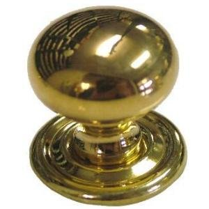 Door Knobs Cast (K-4 SMALL BULBOUS CAST BRASS KNOB - 2 PC/PACK + FREE BONUS (SKELETON KEY BADGE))