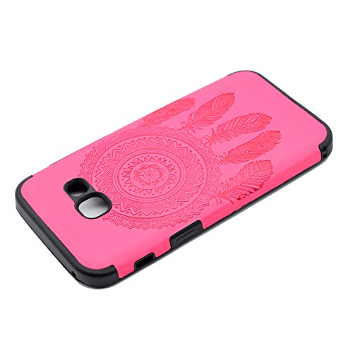 inShang Funda para Samsung Galaxy A3(2017) suave TPU Carcasa Cajas Soporte Skin case cover Para Galaxy A3(2017) + clase alta 2 in 1 inShang marca negocio Stylus pluma Rose chimes