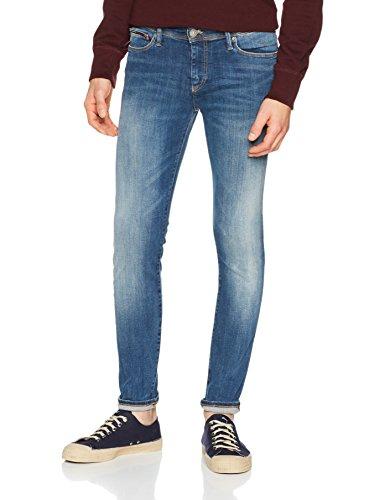 Tommy_Jeans Skinny Simon Dytmst, Vaqueros Hombre Azul (Dynamic True Mid Stretch 911)