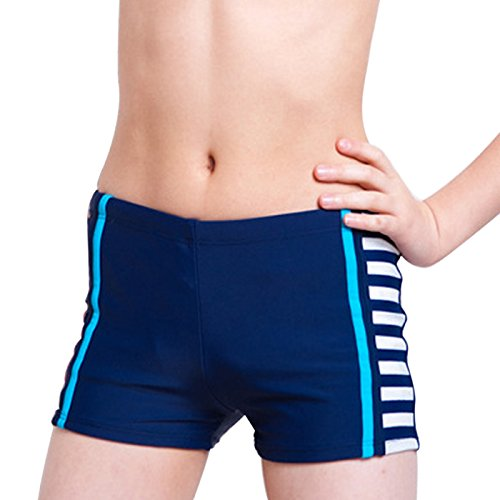 Fitted Swim Boxer - Aivtalk Toddler Boys Swim Boxer Briefs High Elastic Waistiband Sun Protection Swimshorts 5-6 Y Deep Blue