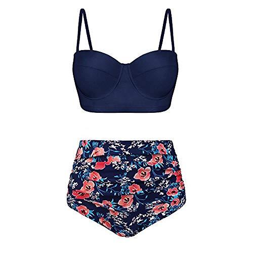 Retro Sexy Zomer Beachwear Hoge Fashion Casual Vjgoal Badpak Taille Bikini's Honda Blue Split 8d0USwwq