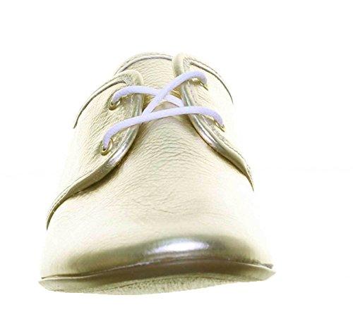 de Carmen à Lacets pour Reece Ville Chaussures Justin Femme Doré UZtOwq5
