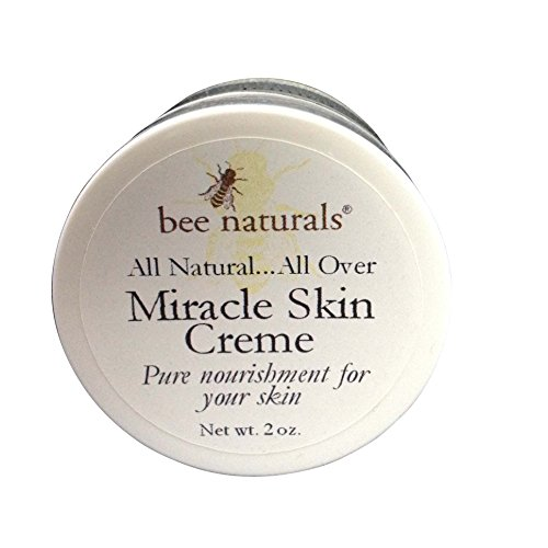 Bee Naturals Miracle Skin Creme - All Natural Skin Cream - Pure Nourishment for Your Skin - Use for Face, Lips and Hands