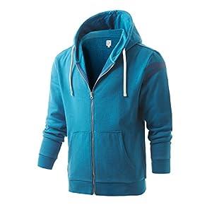 Regna X Basic Men's ?Hipster Hip Hop Classic Pullover Long Hoodie Sweatshirt
