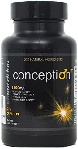 Conception Mens/Male Fertility Supplement | Natural Blend of Vitamins and Supplements in Pills