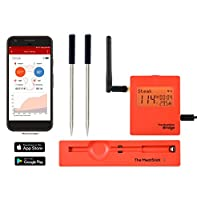 WiFi Bridge with 2 TRUE Wireless Meat Thermometers for Stove, BBQ, Grill, Oven, Smoker, Sous Vide - The MeatStick Cook perfect meat via Bluetooth and WiFi Bridge for iOS and Android. by fabulous The MeatStick